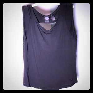 Harley Davidson Black Tank Muscle Tee Open Back